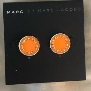 NWTMarc by Marc Jacobs circle orange logo earrings